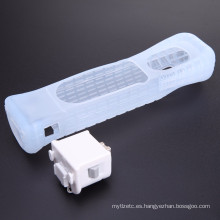 Cubierta protectora del sensor del adaptador de Motion Plus para el control remoto de la consola Nintendo Wii Caso del silicón del acelerador Motion Plus