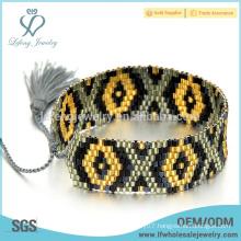 Diy braided seed bead bracelet jewelry,Bohemia handmade jewelry