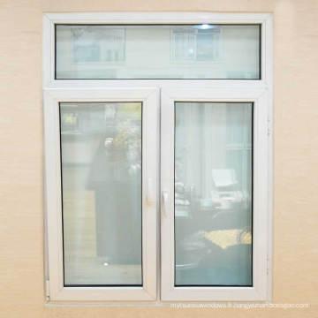 Fenêtres Conch UPVC avec stratification en chêne