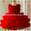 Fête des filles porter robe occidentale coloré une pièce de rose robe de fête pour les filles de 2-12 ans