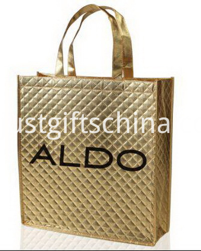 Promotional PP Non Woven Metallic Tote Bags