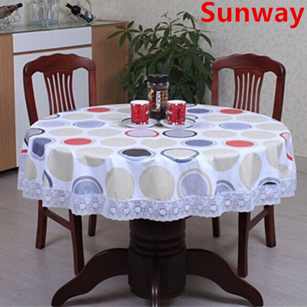 Round Wipeable Tablecloth