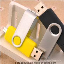 Atacado colorido giratório OTG USB Pen Drive para Smart Phone (JV1040)