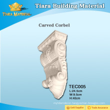 Cheap fireplace moldings PU carved corbels for decoration