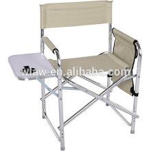 Cadeira de diretor desmontável de alumínio com placa