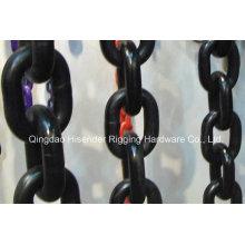 Cadena G80 High Strenth, cadena de polipasto calibrada, cadena de elevación
