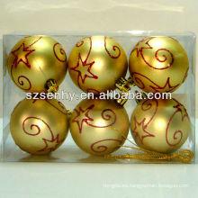 bola de nieve de navidad, bola de navidad brillante
