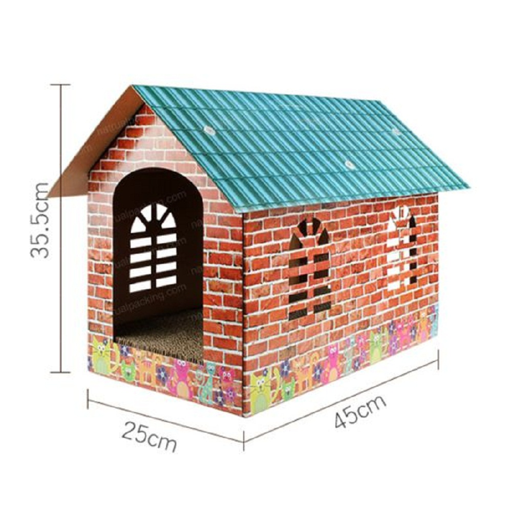 China Corrugated Paper Pet Cats House Shape