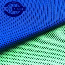 Kaltgefühlgarngefärbtes Honeycomb-Netzgewebe für kaltes Handtuch
