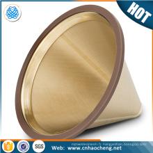 Hario carafes cafetière filtre filtre / or enduit de titane versez sur goutteur cône