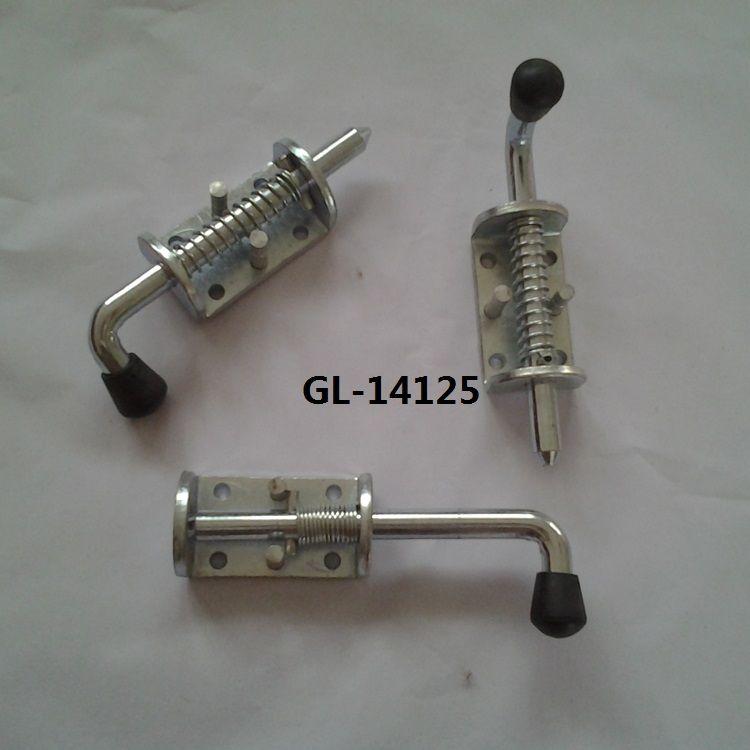 Spring Loaded Bolt Spring latch loaded Bolt Used on Trailer and Truck Bodies