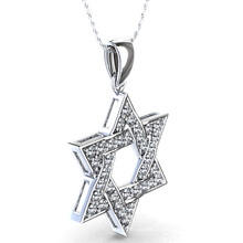Pendentif Star of David en bijoux en argent sterling 925