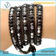 Nova moda barata boho jóias envoltório artesanal em torno pulseira boho