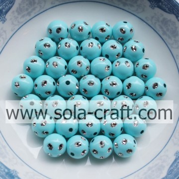 Hoge kwaliteit Sky Blue Color Kunstmatige Disco Dot Beads 5MM