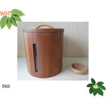 5kg Circular Window Wood Ricer Box