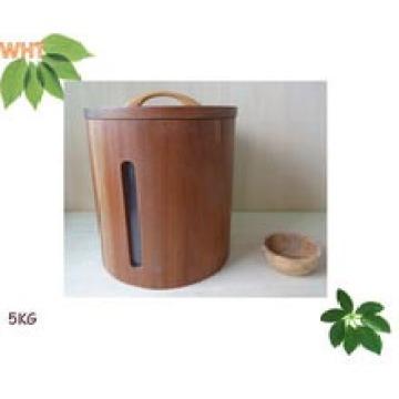 Caja circular de madera de 5kg Ricer