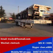 100tons 3 essieux Container transport remorque