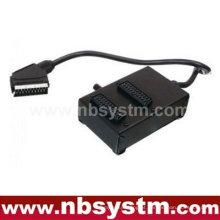 21 pinos Scart plug para 2 x 21pin Scart jacks box (com interruptor)