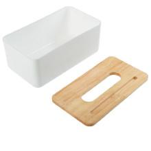 Caja de madera plástica multifuncional de las servilletas del papel higiénico