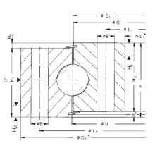 Rothe Erde Não-Engrenagem Rolamentos de rotação de uma única bola de linha (060.20.0414.575.01.1403)