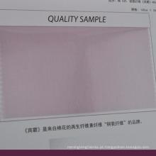 tecido de mistura de algodão cupro respirável para adequar o revestimento
