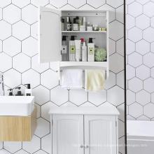 Hot White 2 Ladders Bathroom Cabinet Storage