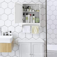 Almacenamiento de gabinete de baño de escaleras de color blanco caliente 2