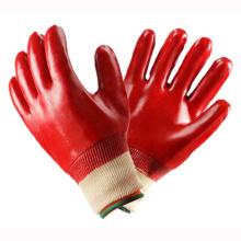 Guantes de trabajo de seguridad de mano roja PVC