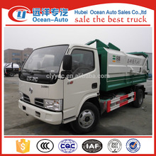DFAC 5m3 directly sale 4x2 mini self loading garbage truck