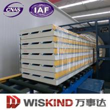 Material de construcción del panel de pared del bocadillo de la densidad PU de 40-45kg / M3 / del poliuretano