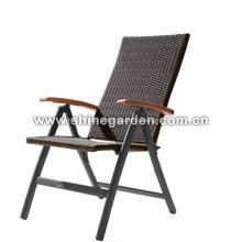 Cadeira de dobramento de vime mobiliário de exterior