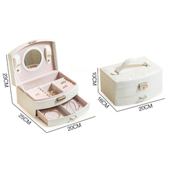Luxury many Drawers Large  Jewelry Box With Mirror