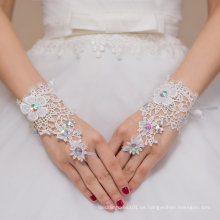 Finger Handschuh Kristall Spitze Braut Hochzeit Handschuh
