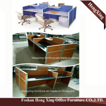 Hx-0803 Modern Design 4 Seats Workstation L Shape Office Table