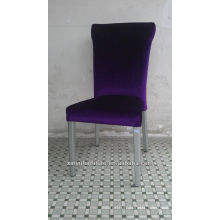 Fashion Antique metal purple dining chair XA3268