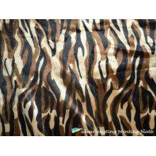 Tela de veludo de Tiger Strip impresso padrão de moda
