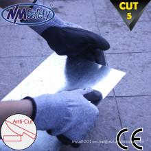 NMSAFETY corte nivel 5 cuchillo guante recubierto pu estilo suave