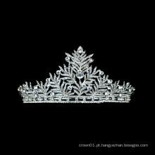 Atacado estilo indiano casamento coroa princesa strass nupcial balé tiara com cristal