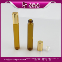 Emballage SRS Enroulement en bouteille sur bouteille et rouleau sur bouteille en verre de 10 ml avec bouchon en métal Alu