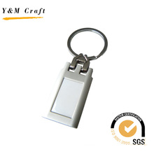 Customized Rectangle High Quality Metal Key Ring Keychain (Y02323)