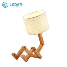 LEDER Bedroom Wooden Table Lights