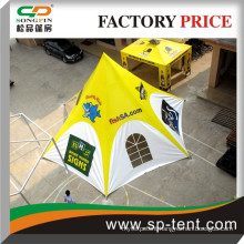 mobile custom wedding party waterproof tent canopy yellow color star tent for stall
