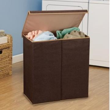 Double Coffee Laundry hampers with lid