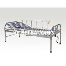 A-120 Tout le lit d'hôpital manuel en acier inoxydable à usage unique