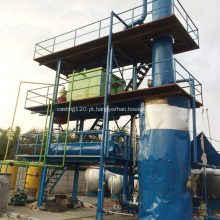 Planta de processo de reciclagem de filtro de óleo