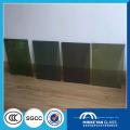 Estantería de cristal de la pared de cortina azul del pasillo de la estación del precio bajo