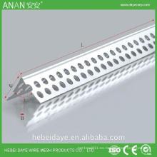 Tienda en línea China materiales de construcción de plástico ángulo de esquina de ángulo de aluminio
