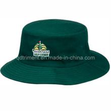 Moda bordado de algodón de sarga pescador Golf Bucket Hat (TRB003B)