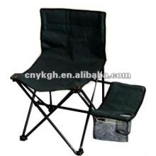 Черный сложить стул с столиком и подстаканником