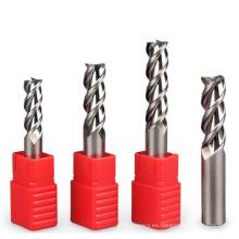 Herramientas de corte del cortador de fresado del molino de extremo para plástico